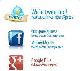 CompareXpress @ Twitter and Facebook